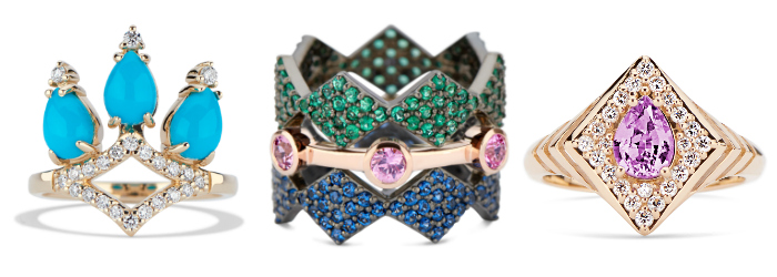 Three glorious rings by GiGi Ferranti!