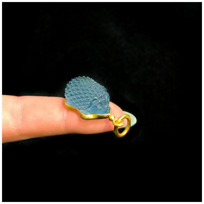 I love this carved aquamarine hedgehog charm by Loren Nicole Jewelry!