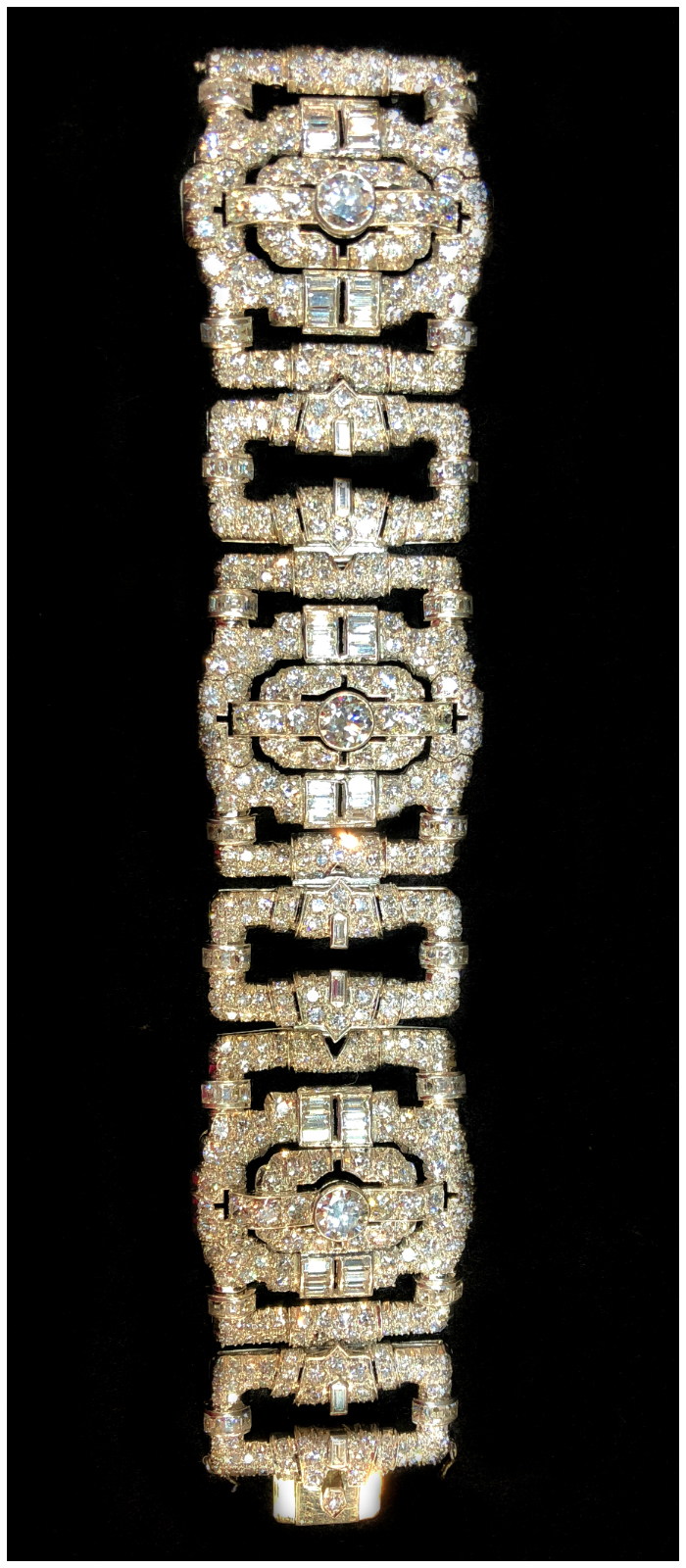 A magnificent antique Art Deco diamond bracelet. Spotted at JS Jewels LTD and Keith MacRae.