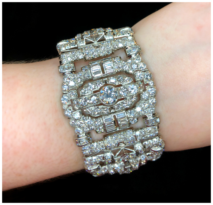 A magnificent antique Art Deco diamond bracelet. Spotted at JS Jewels LTD and Keith MacRae!