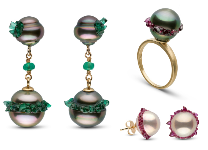 Beautiful pearl jewelry from the new little h Spiral Collection!!