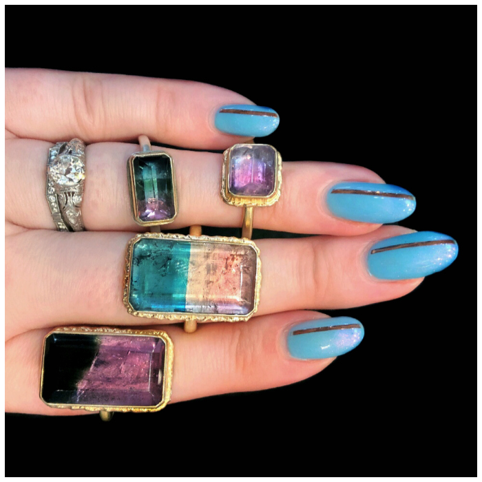 Bicolor tourmaline rings by Jamie Joseph!! One of these is mine, the rest were for sale when I saw them.