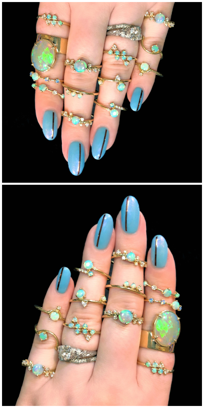 I love every single one of these beautiful opal rings by Wwake!