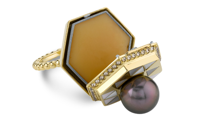 The Harwell Godfrey poison ring opens to reaveal a secret compartment holding solid perfume!