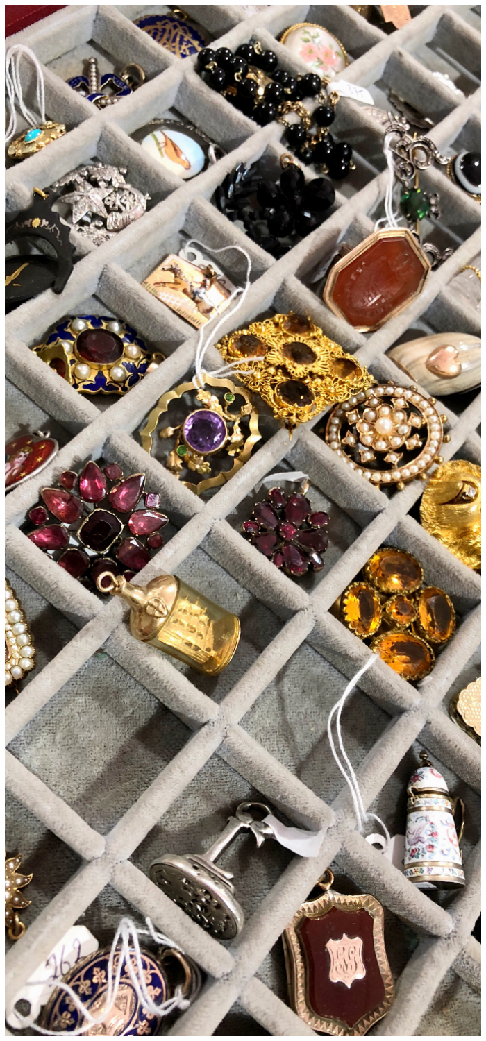 Vintage and antique charms from Lucy Verity! Spotted at the Miami Antique Show,