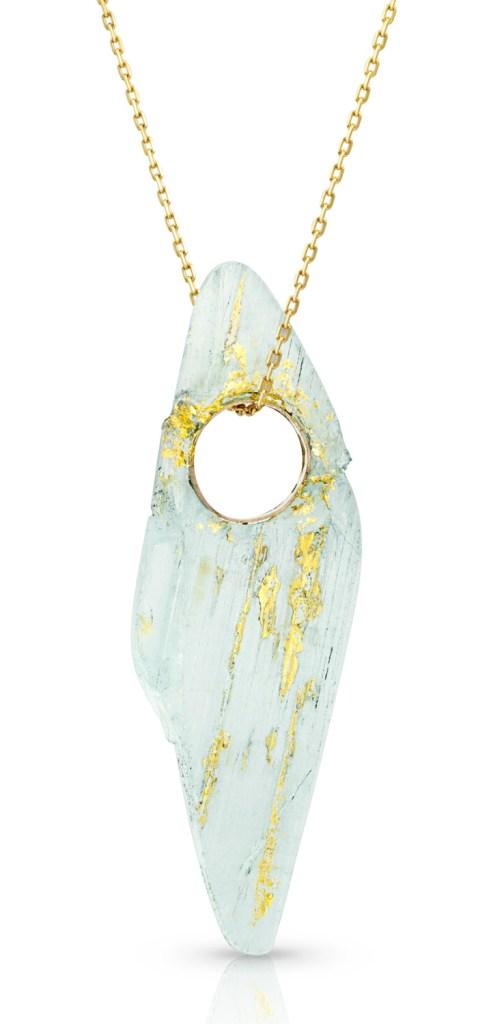 An incredible aquamarine pendant by Enij Studio! At The Jewelry Showcase.