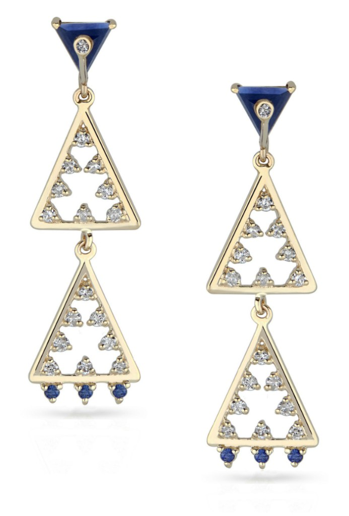 Beautiful geometric earrings from Loriann Jewelry's new collection, available at The Jewelry Showcase.