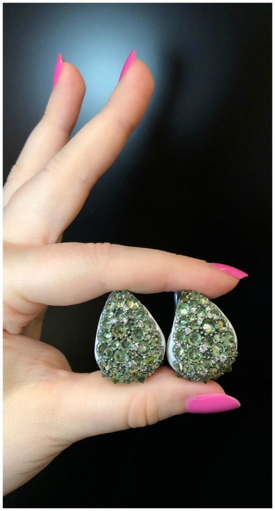 I love the bold design of these reverse-set gemstone earrings by Italian jewelry brand Mattioli!