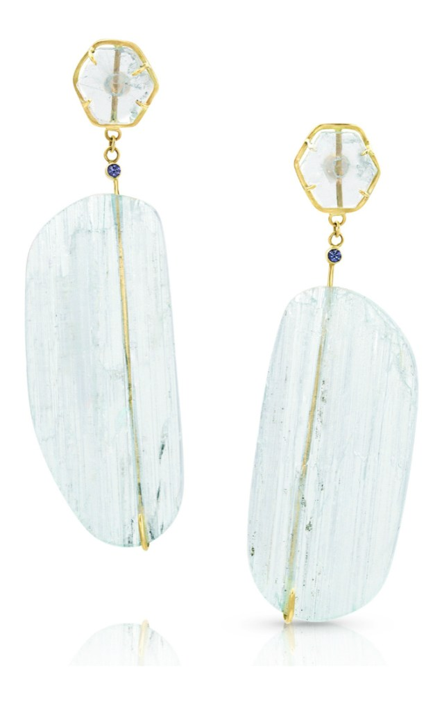 I love these gemstone earrings by Enij Studio!