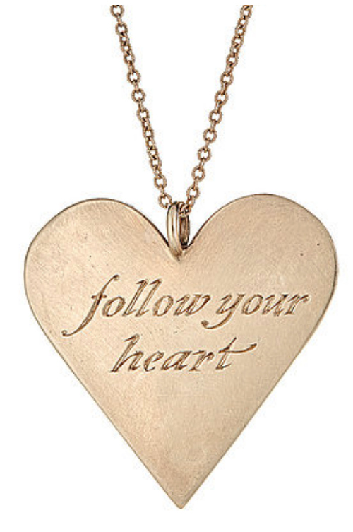 The Follow Your Heart pendant necklace by Asia Ingalls.
