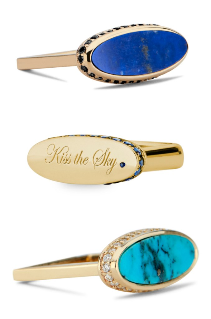 Three rings by DRU jewelry, available from The Jewelry Showcase.