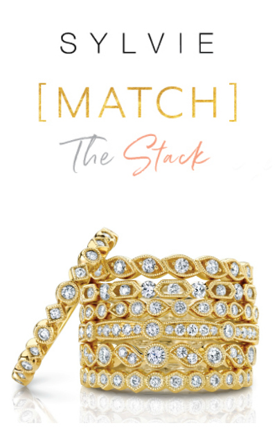 Enter to WIN a free diamond stacking ring from Sylvie Collection!! #MatchTheStack
