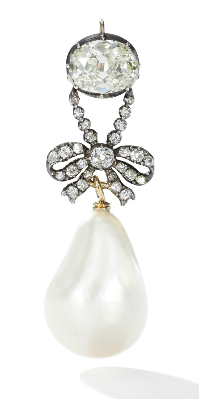 Queen Marie Antoinette's famous natural pearl and diamond pendant - Royal Jewels from the Bourbon Parma Family - Sotheby's November 2018