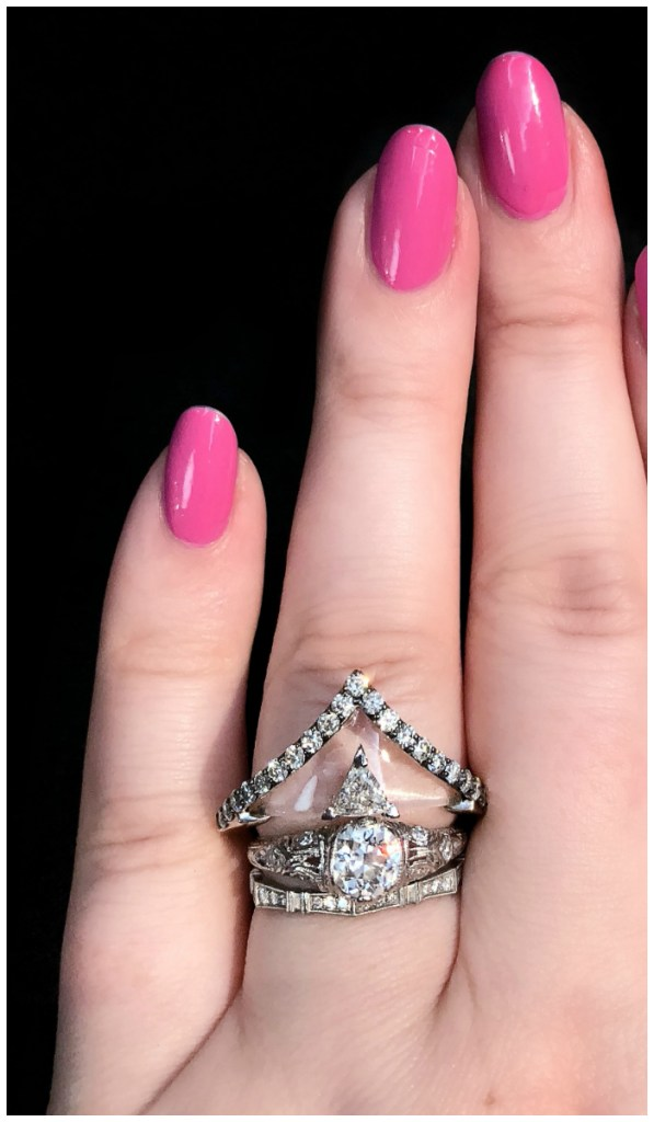 The coolest ring!! Rock crystal and diamonds, by jewelry designer Bia Tambelli.