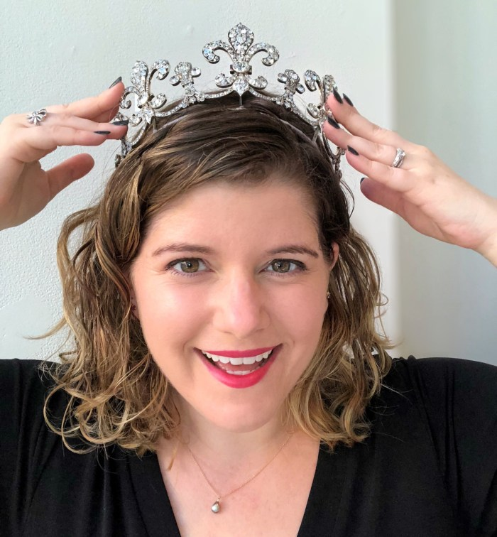 This stunning fleur de lys tiara was made for Archduchess Maria Anna of Austria by the jeweler Hübnerin, using diamonds once owned by Charles X of France.