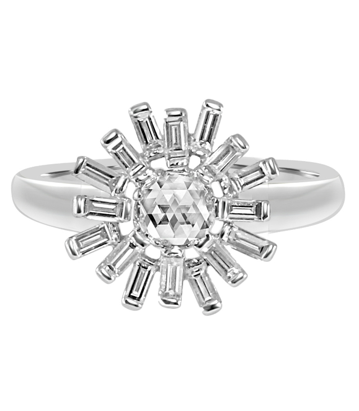 A beautiful and unusual diamond ring by Vivaan! This would be such a cool engagement ring.
