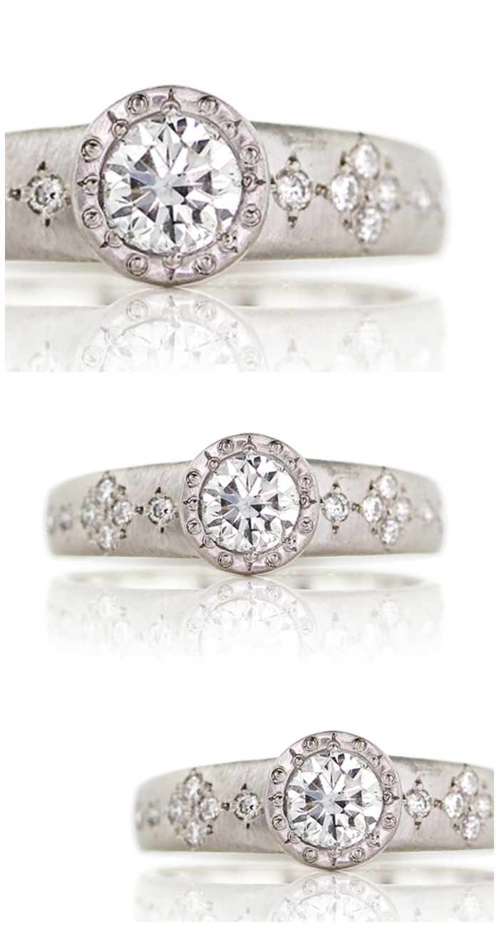A beautiful bezel set engagement ring by Adel Chefridi.