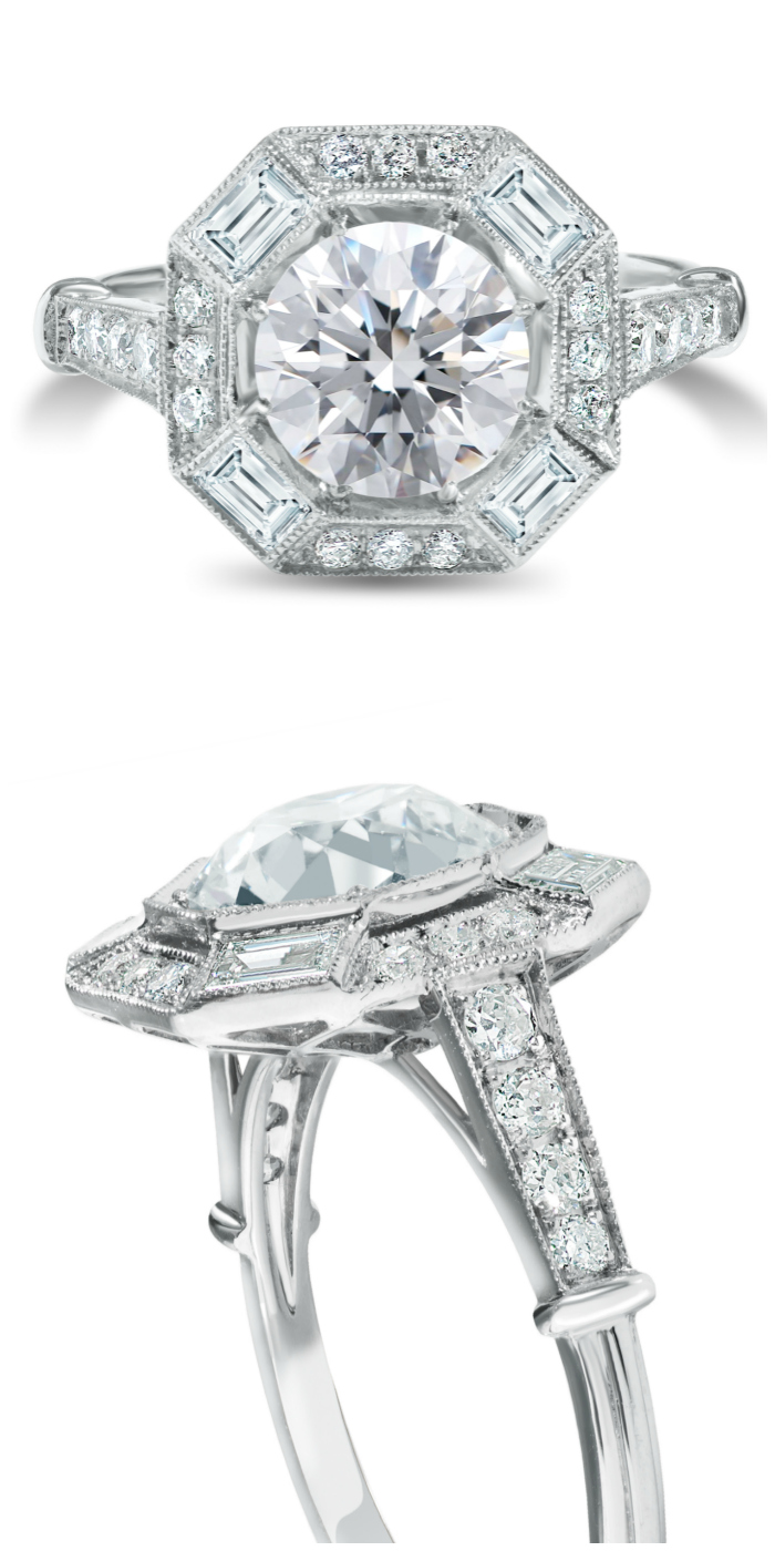A beautiful diamond engagement rings! By Nicole Rose Jewelry.