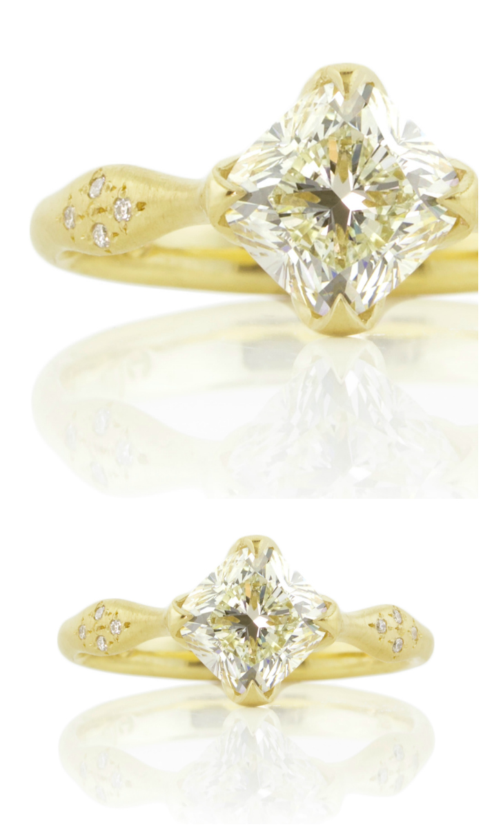 A beautiful yellow diamond engagement ring by Adel Chefridi.