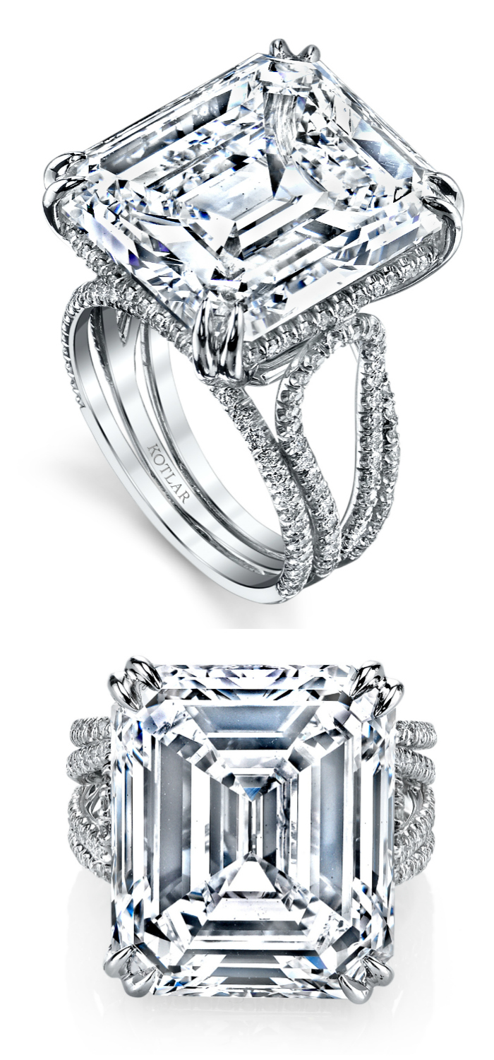 An incredible diamond engagement ring by Harry Kotlar!