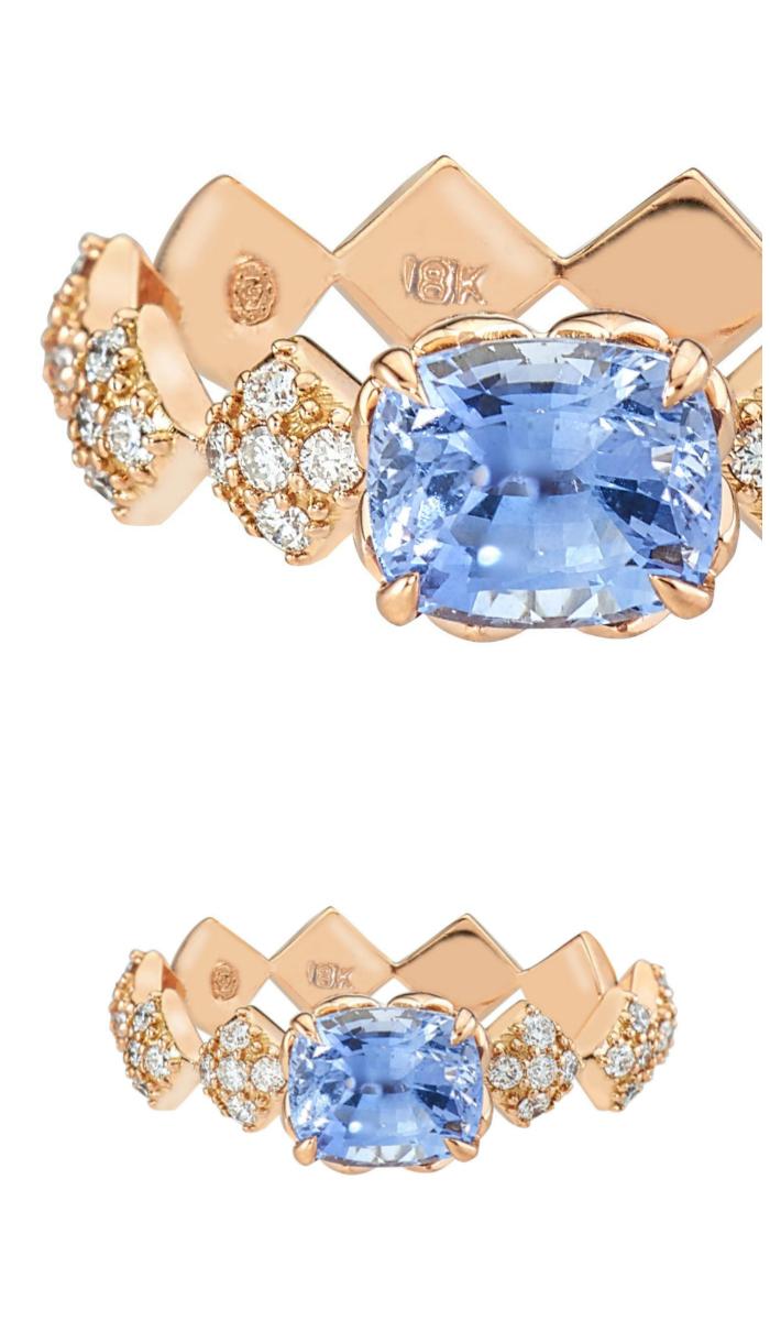 I love this blue sapphire engagement ring by GiGi Ferranti!