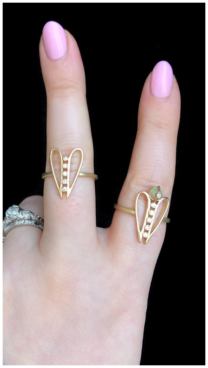 Beautiful rings from Loriann Jewelry's brand new Harmony collection. Diamonds in gold.