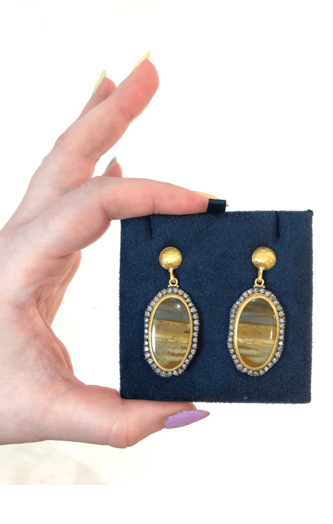 I love the jasper stones in these Lika Behar earrings.