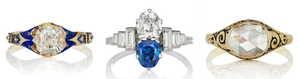 Vintage engagment rings from Victor Barbone.