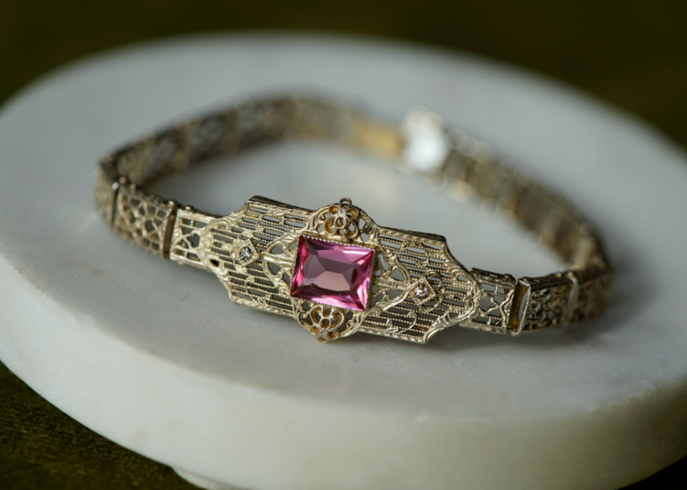 A lovely, lacy, delicate bracelet from the Art Deco era.