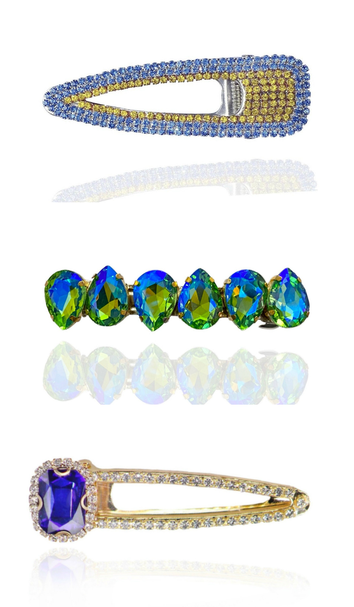 Beautiful bejeweled hair clips from Heir Jewelz! I'm obsessed.