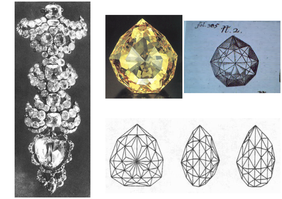 Images of the Florentine Diamond, via Famous Diamonds.