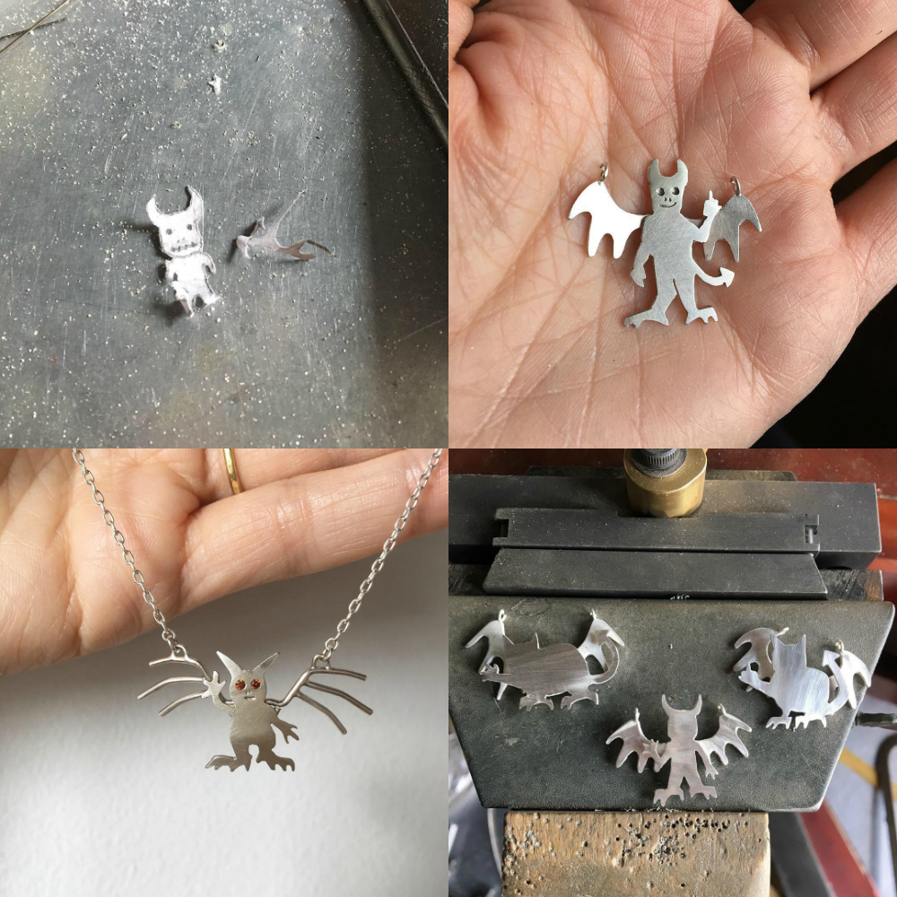 Susan Elnora's demon necklaces are all handamde and unique