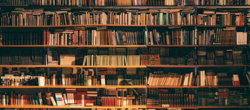 What I'm reading. Photo of bookshelves by Alfons Morales on Unsplash