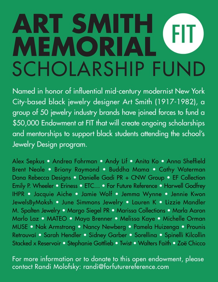 Art Smith Scholarship Fund for BIPOC and Black jewelers