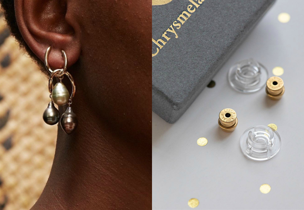 The precision engineered Chrysmela catch will make sure your earrings always stay on.