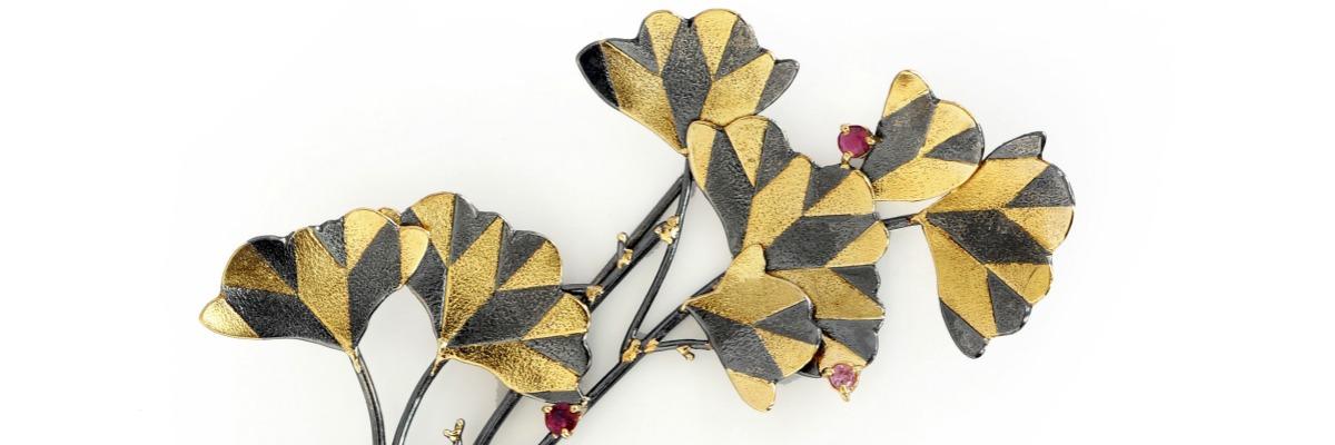 6SHADOWS beautiful botanical brooches.