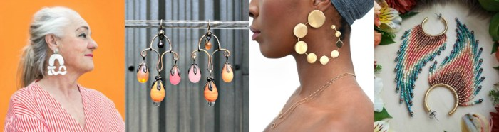 Statement earrings are the perfect Zoom jewelry.