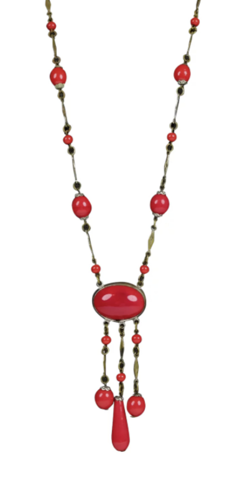 Art Deco Czech glass necklace. A genuine 1920's flapper necklace! From ccFinds on Ruby Lane.