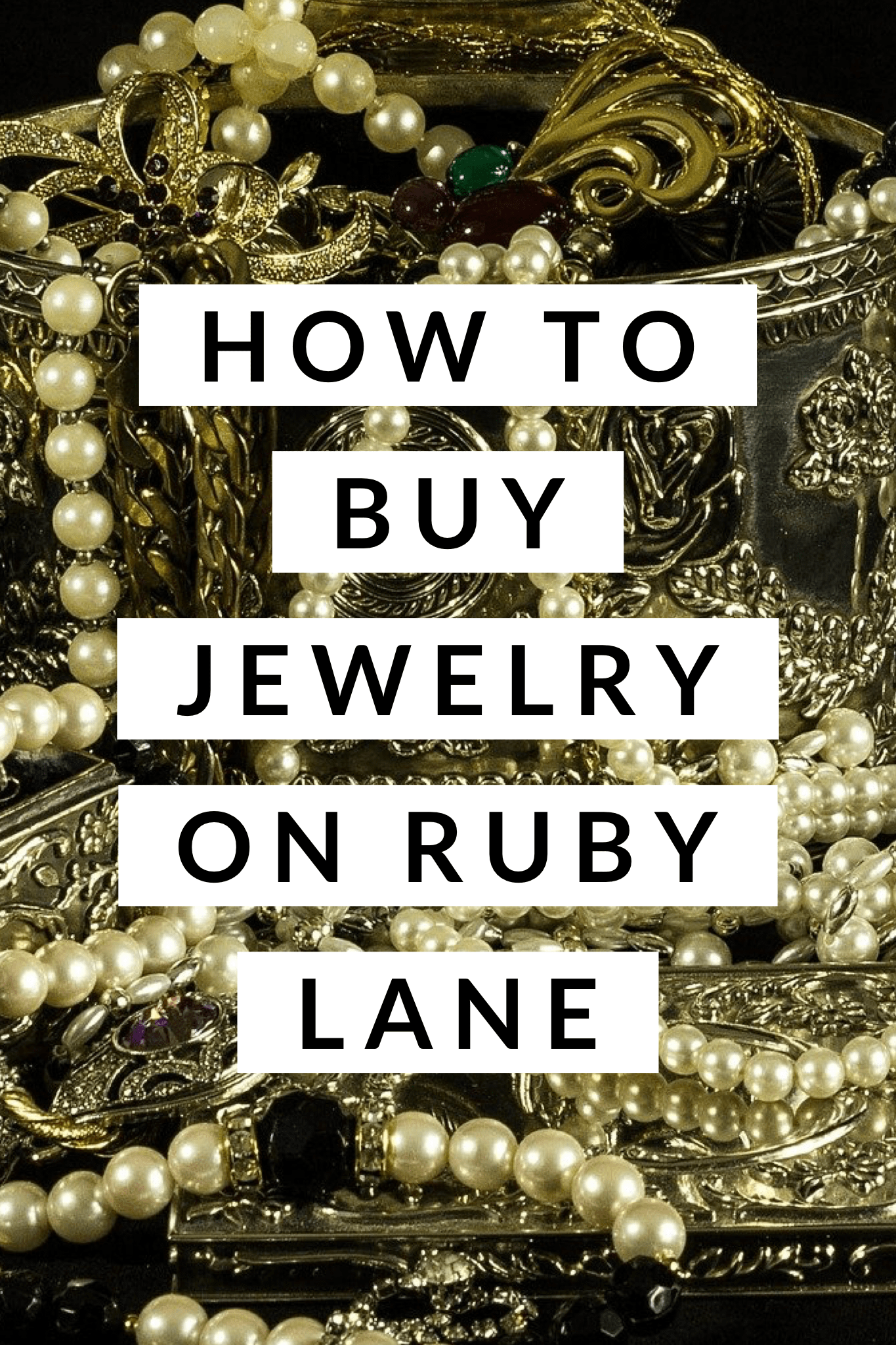 How to buy jewelry on Ruby Lane; tips, tricks, and saved searches