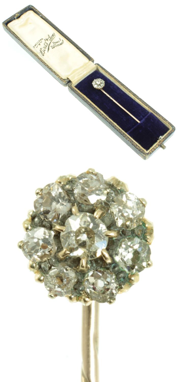 A Victorian era diamond tie pin from Carus Jewellery.
