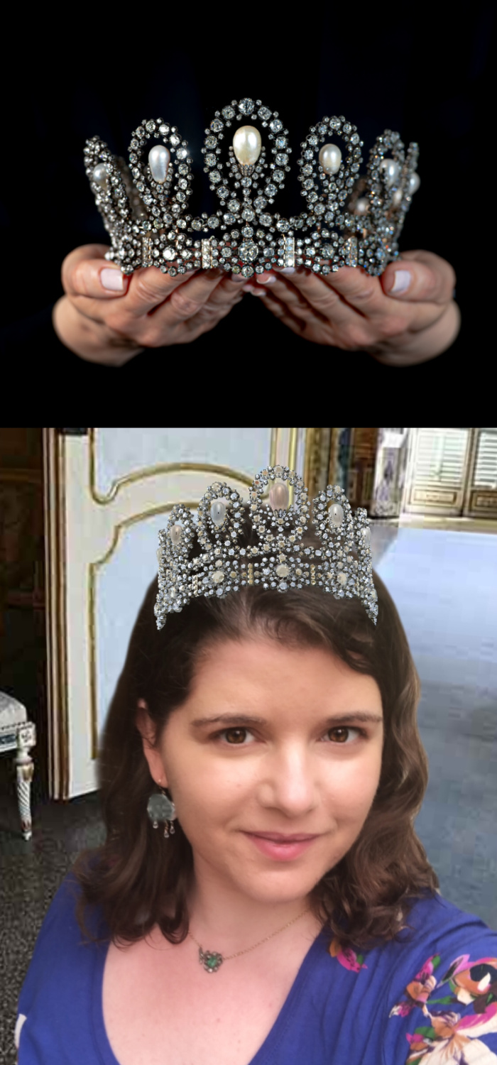 Try on a real royal tiara with Sotheby's new tiara filter!