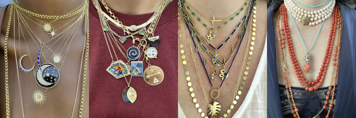 How to layer necklaces: #neckmess legends.