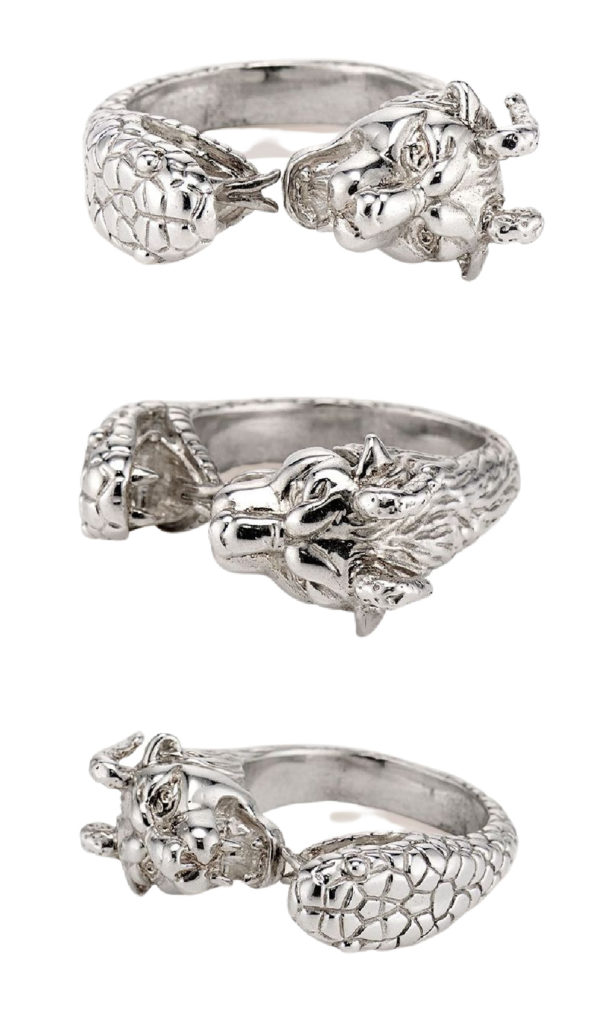 The Chimera ring in silver. From KIL NYC's Teras Collecton, which is inspired by Greek mythology.