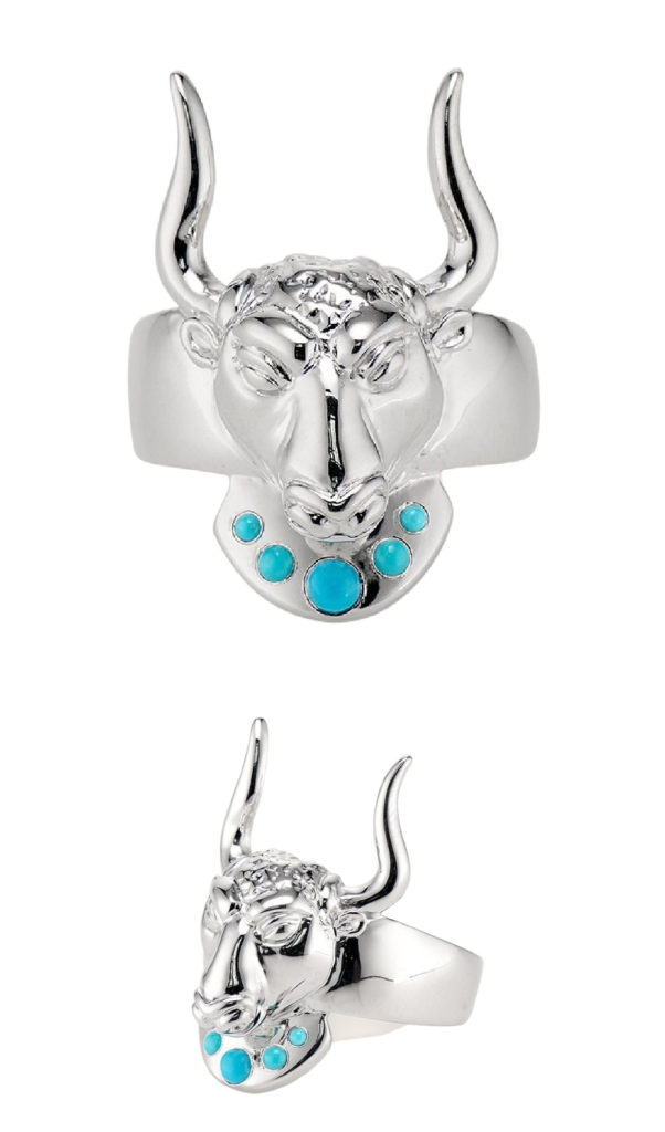 The Minos ring from KIL NYC's Teras Collection, inspired by the ancient Greek myth of the Minotaur.