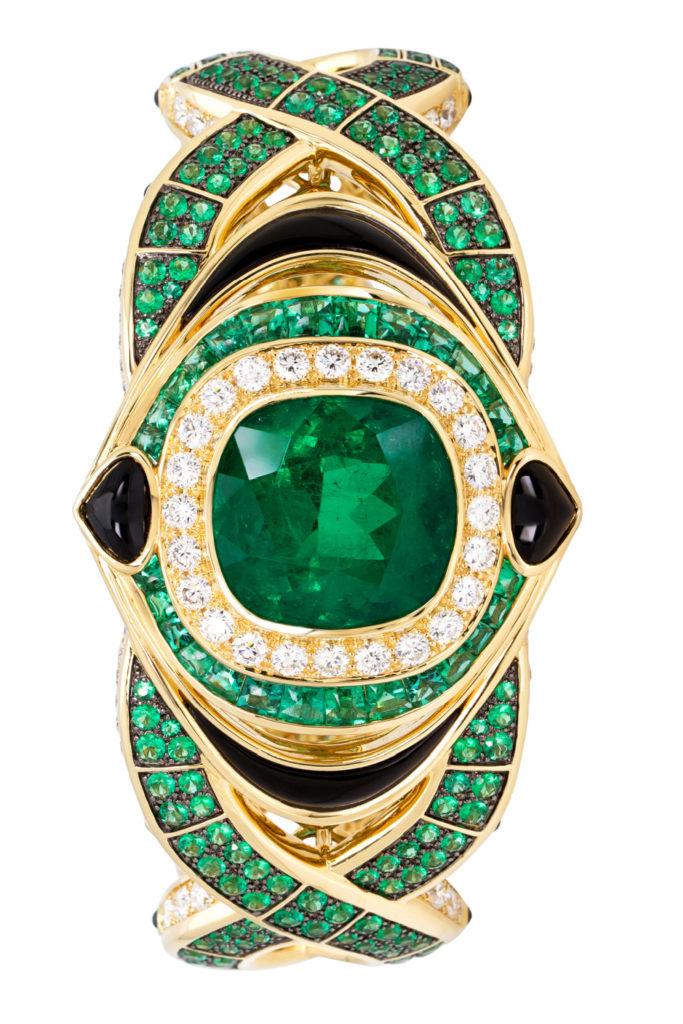 The Salvia emerald cuff bracelet by Marina B.