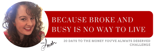 "Take the Diamonds N' Denim ""20 Days to the Money You've Always Deserved"" Challenge. Click the photo to get started!"