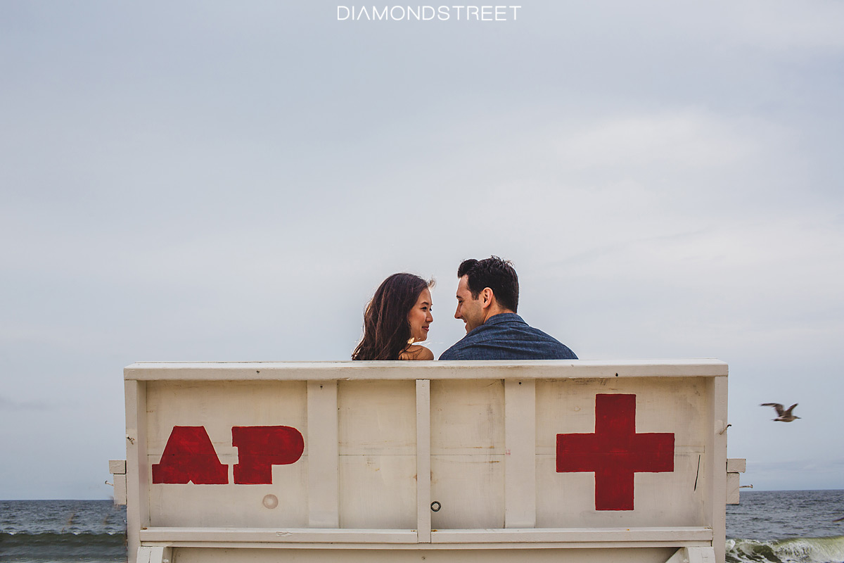 Asbury Park Engagement Photos New Jersey Wedding