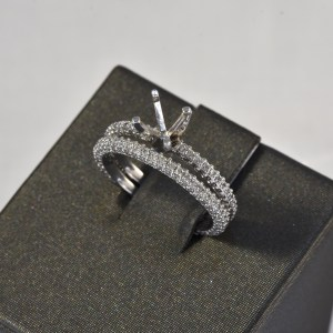 14 kt white gold bridal semi mount