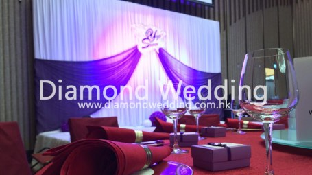 Wedding Backdrop - Purple