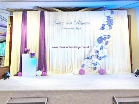 Wedding Backdrop - Purple